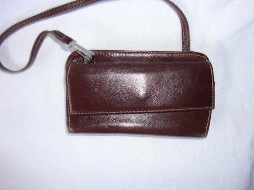 carteira feminina marrom com alça