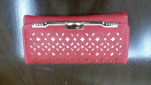 carteira feminina vermelha