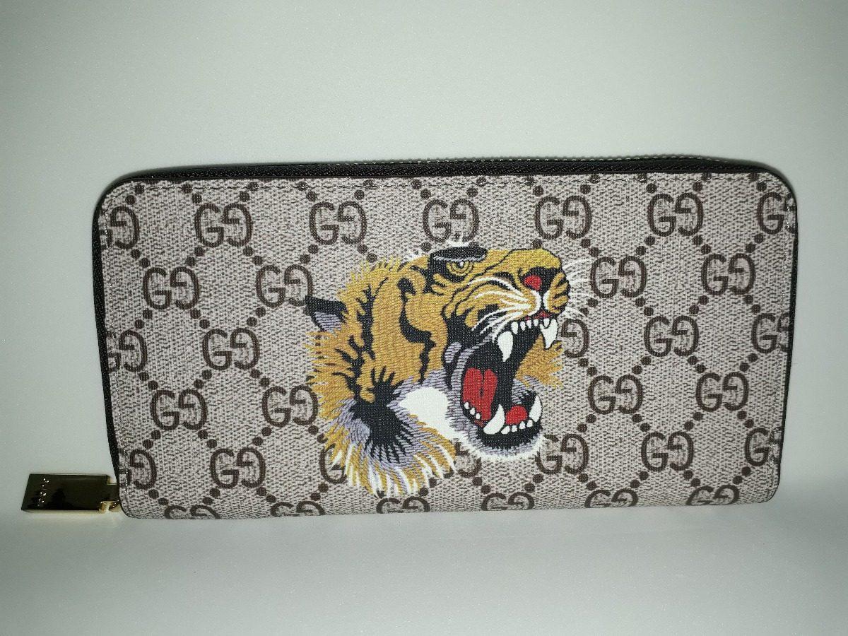 50443224d Carteira Gucci Couro Legitimo Tigre Feminino Promoção - R$ 299,00 em ...