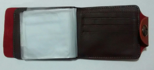 carteira leather séries em couro marrom frete grátis