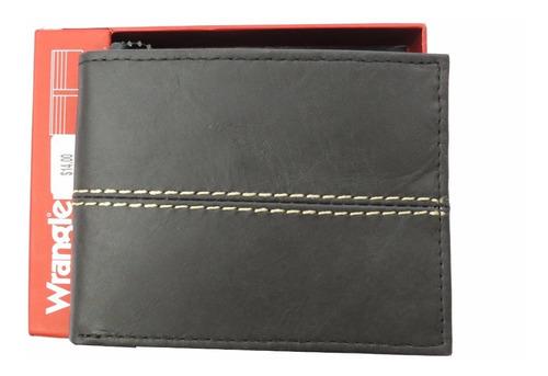 carteira masculina bifold wrangler marrom couro legítimo