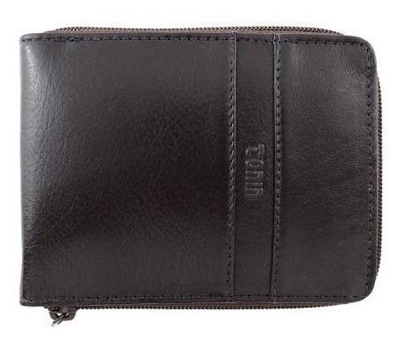 carteira masculina com zíper couro legítimo tonin 0936