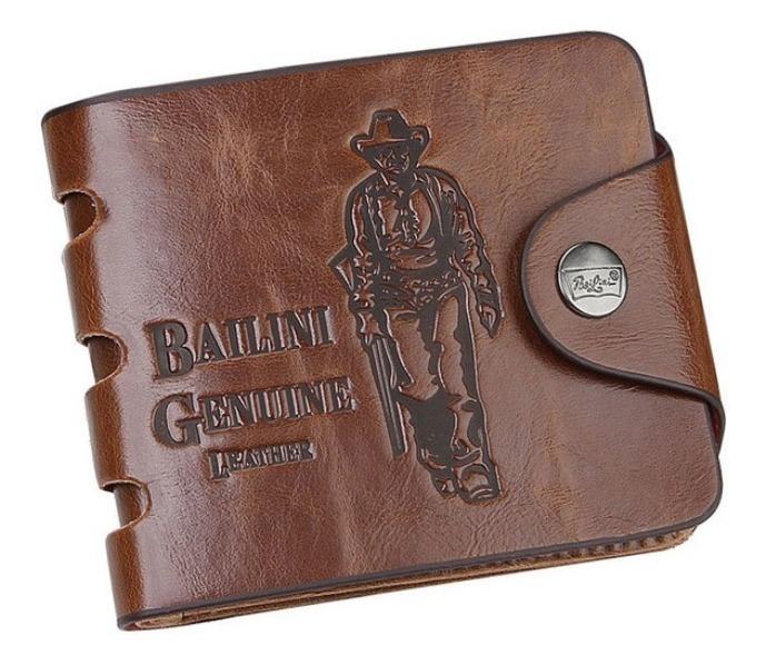f73de807cc Carteira Masculina Couro Bailini - R$ 69,90 em Mercado Livre