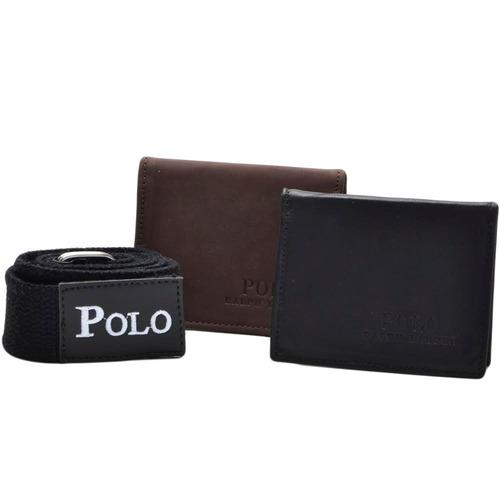 carteira masculina couro  kit 2+1 cinto oferta dia dos pais