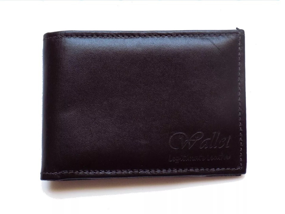 f2d5148a6 carteira masculina couro legítimo fina com aba de plastico. Carregando zoom.