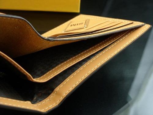 carteira masculina couro legítimo importada. ótimo presente!