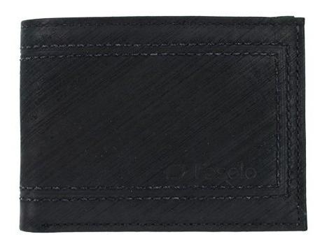 carteira masculina couro legítimo nobuk fasolo porta cartões
