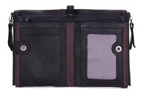 carteira masculina couro legitimo puro + porta moedas zíper