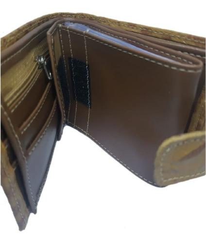 carteira masculina couro nitty original - envio imediato