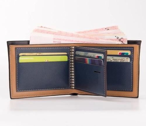 carteira masculina couro porta cartão cnh rg doc com nf