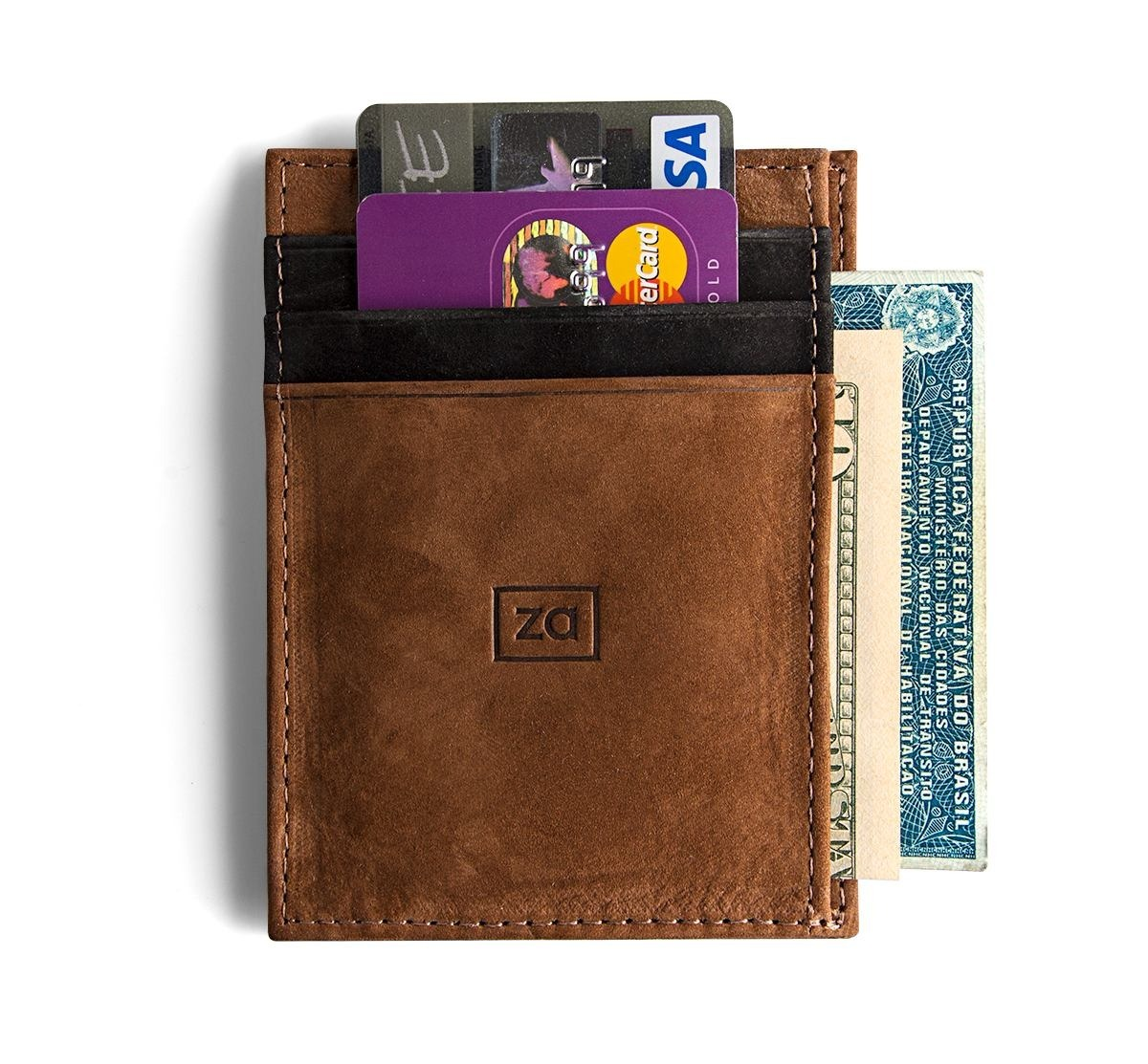 72840c2f4cd5a carteira masculina couro porta cartão pequena bolso slim. Carregando zoom.