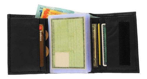 carteira masculina de bolso couro legitimo fecho fixador 015