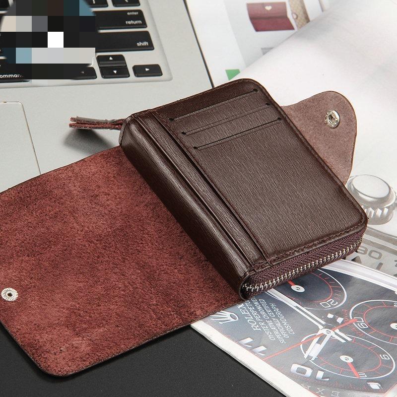 c75de6ec88 carteira masculina de couro fechamento zíper dinheiro marrom. Carregando  zoom.