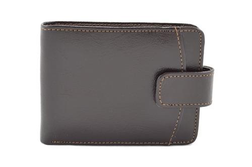 carteira masculina de couro legítimo marrom