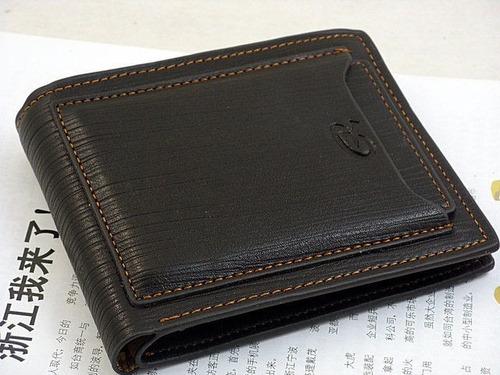 carteira masculina de couro legítimo pidengbao-frete gratis