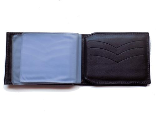 carteira masculina de couro porta cheque