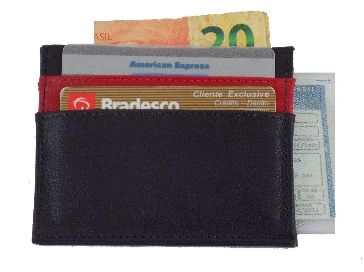 74c90094e carteira masculina de couro ultra fina novidade. Carregando zoom.