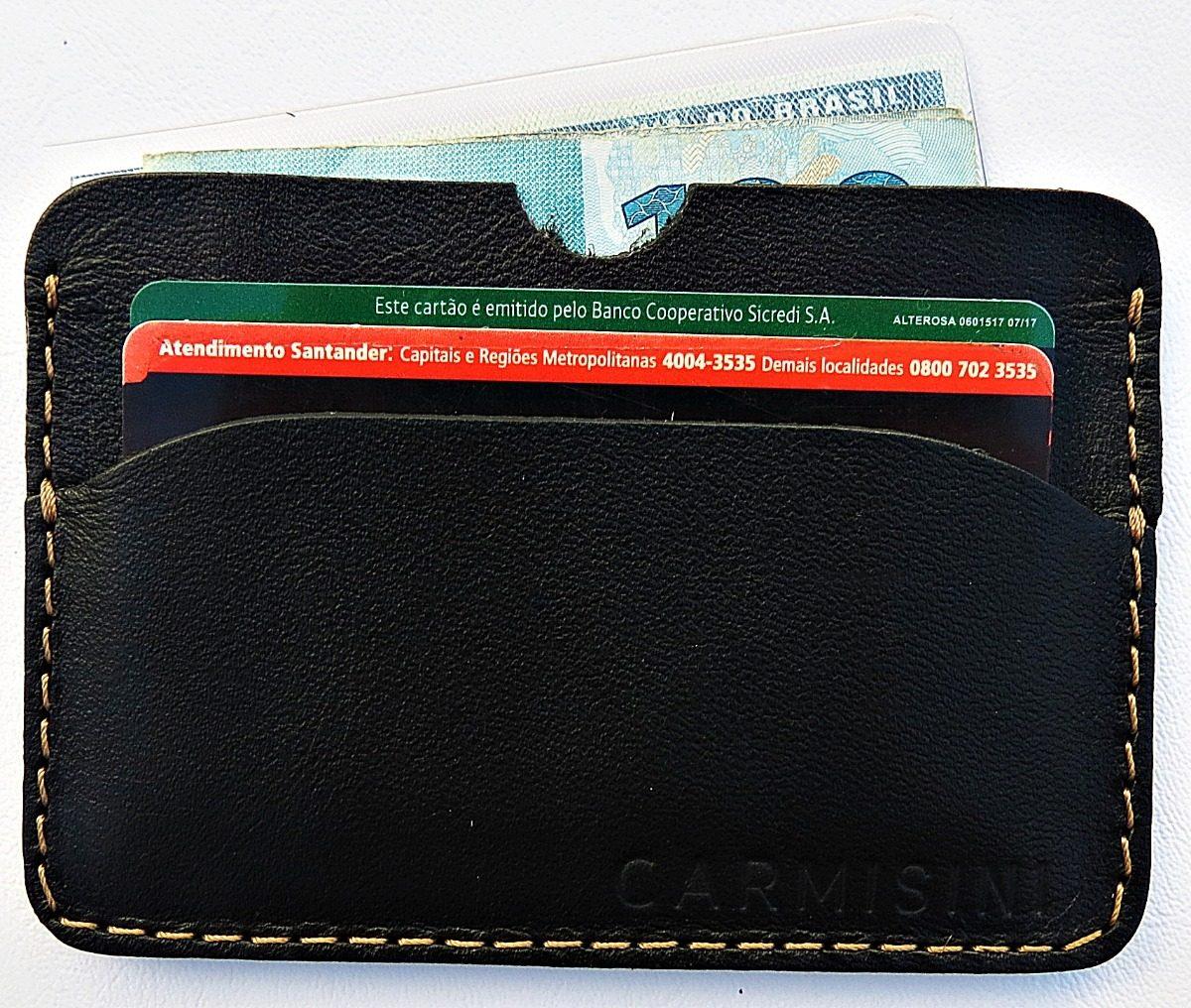 c2e4be208 carteira masculina em couro pequena slim super leve promoção. Carregando  zoom.