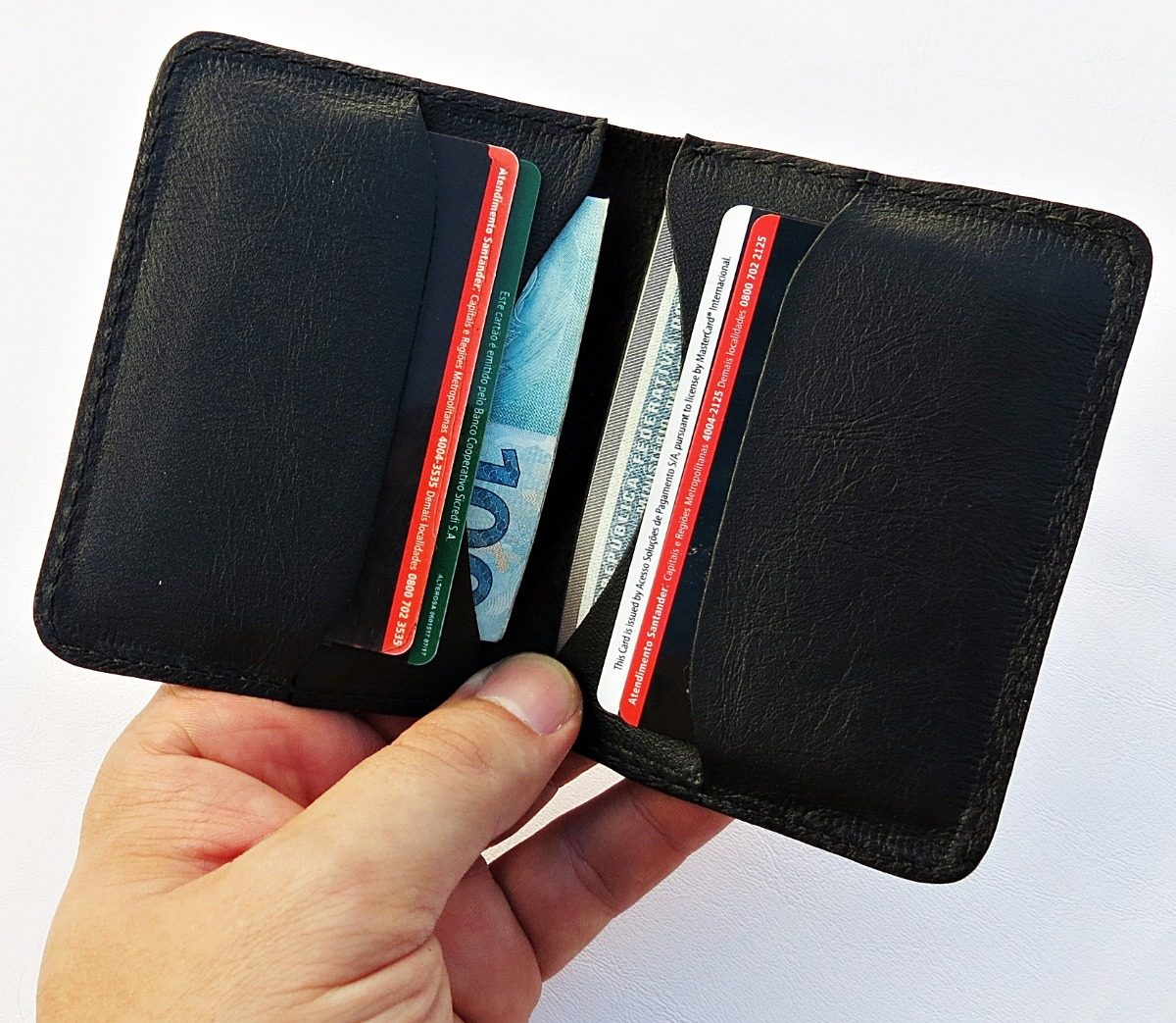130d5f274 carteira masculina fina slim couro compre já! promoção c1. Carregando zoom.