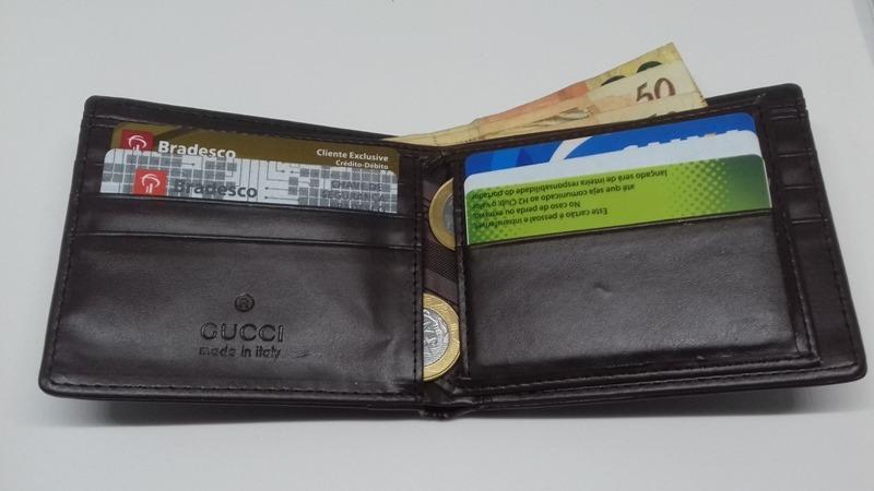 7c80a521cccca carteira masculina gucci promoção - marrom ou preta. Carregando zoom.