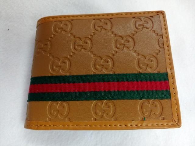 80ac4dde55 Carteira Masculina Guci Italy Caramelo - R$ 139,00 em Mercado Livre