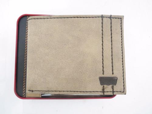 carteira masculina levis levi's original couro