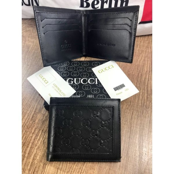 8d2170aef Carteira Masculina Marca Gucci Couro A Pronta Entrega - R$ 139,00 em ...