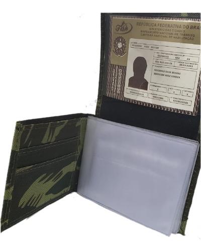 carteira masculina militar fish - envio imediata