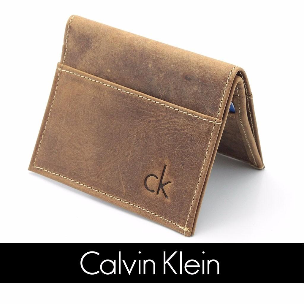 carteira masculina pequena calvin klein ck couro original. Carregando zoom. 7b2d060adb
