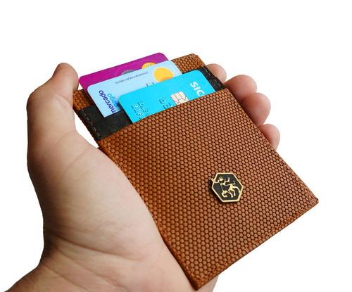 carteira masculina porta cartao couro legitimo frete gratis