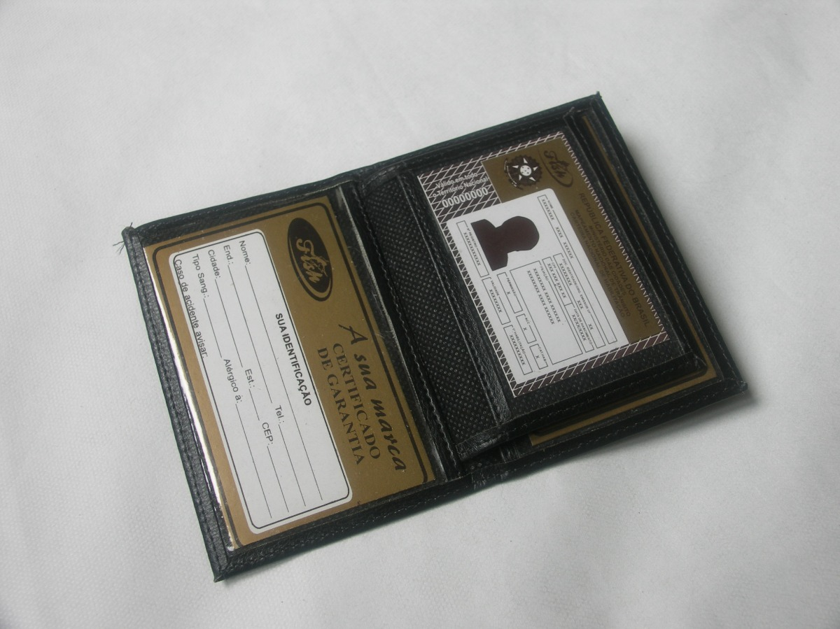 1a71acdf6 carteira masculina porta cartões carro cnh carta registrada. Carregando  zoom.
