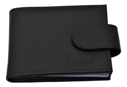carteira masculina porta cheque de couro legitimo / 012b