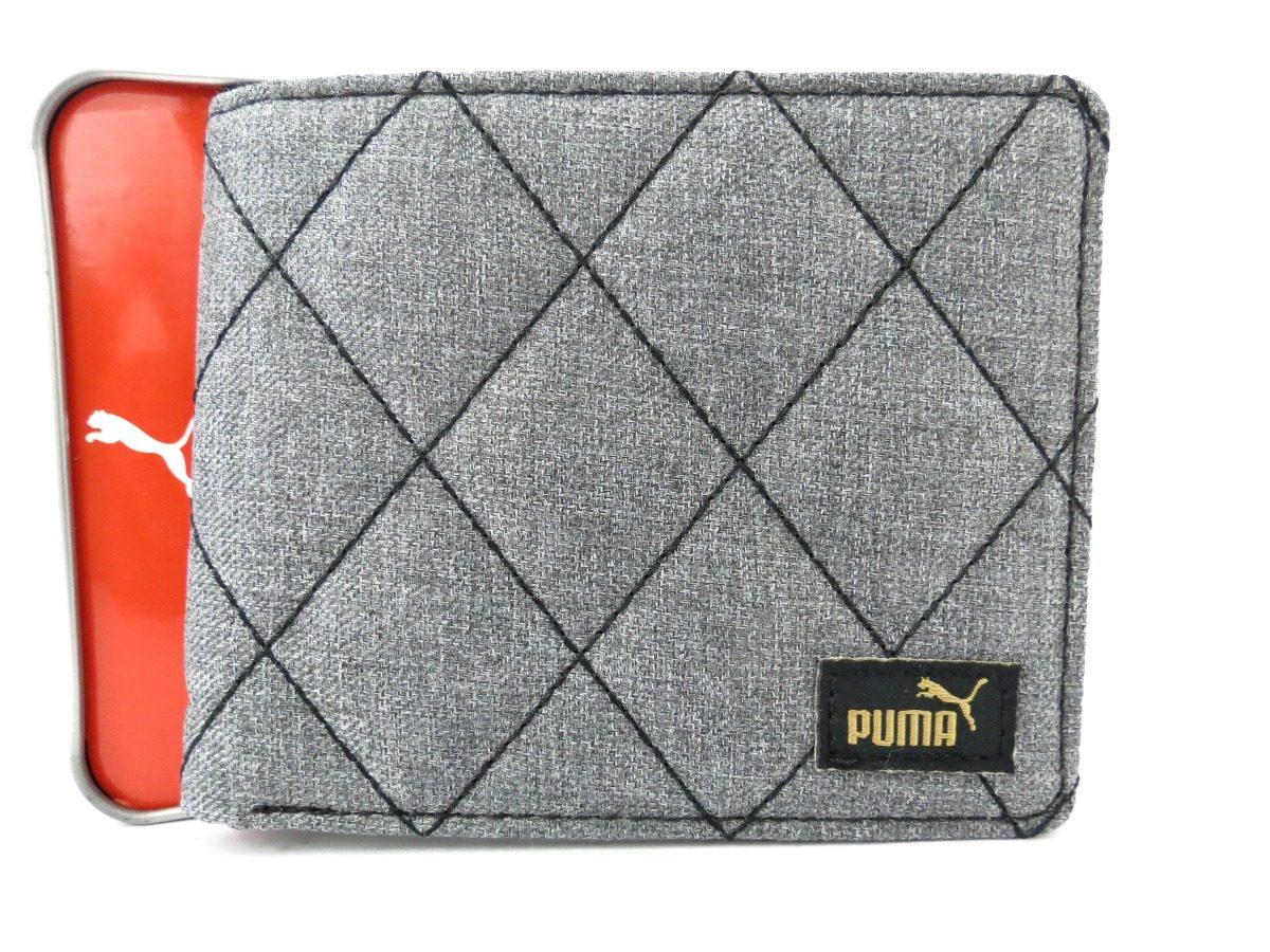 carteira masculina puma billfold cinza original. Carregando zoom. 3de4917577dd9