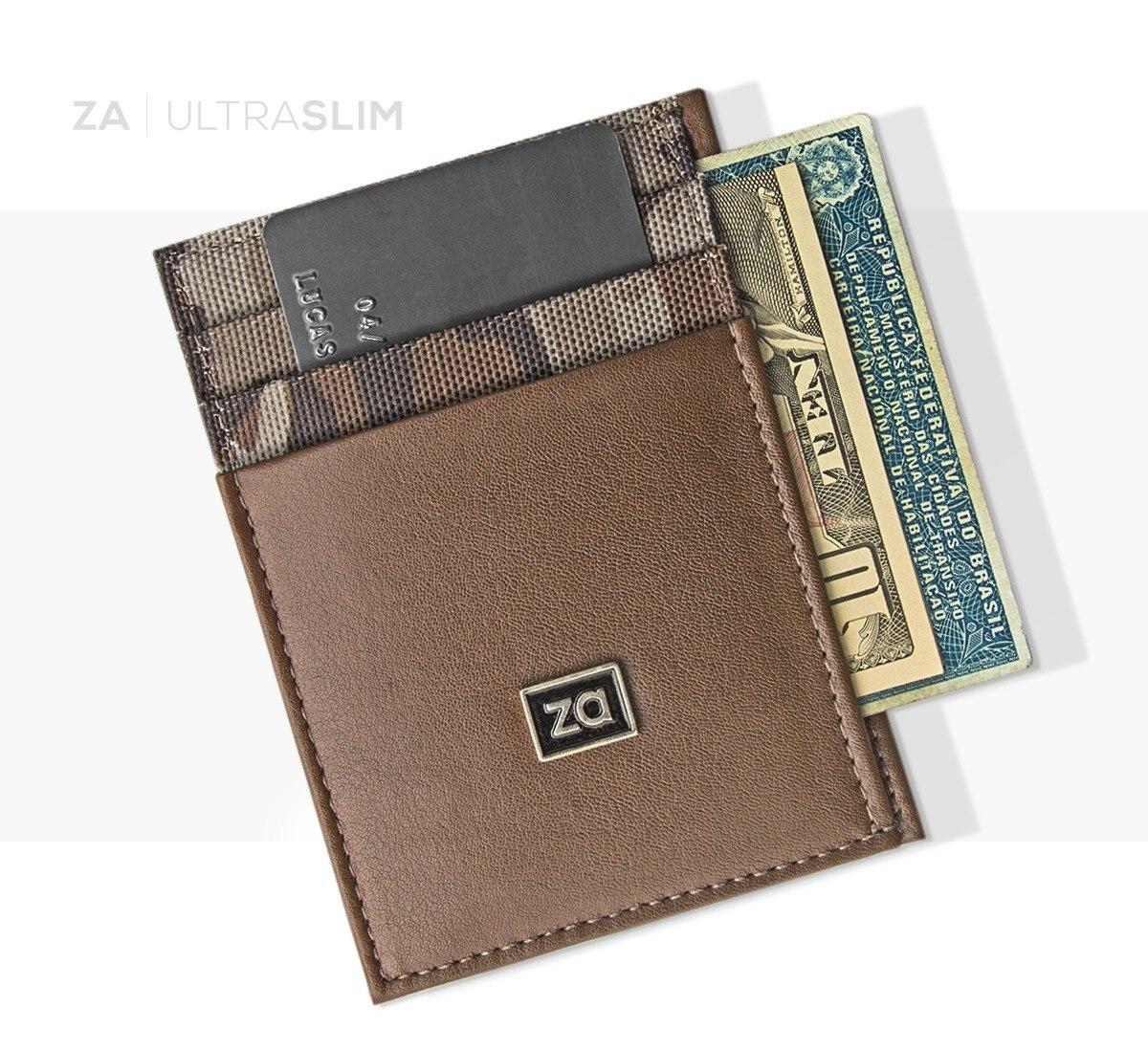 2b91dfcac carteira masculina ultra slim fina porta cartão camuflada. Carregando zoom.