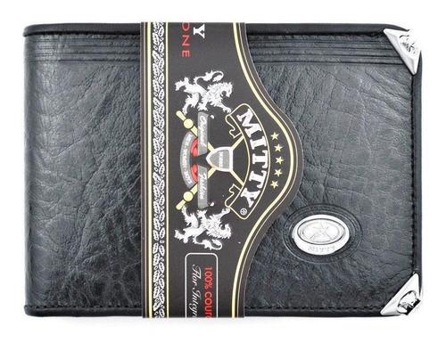 carteira mitty couro com cantoneira - m2