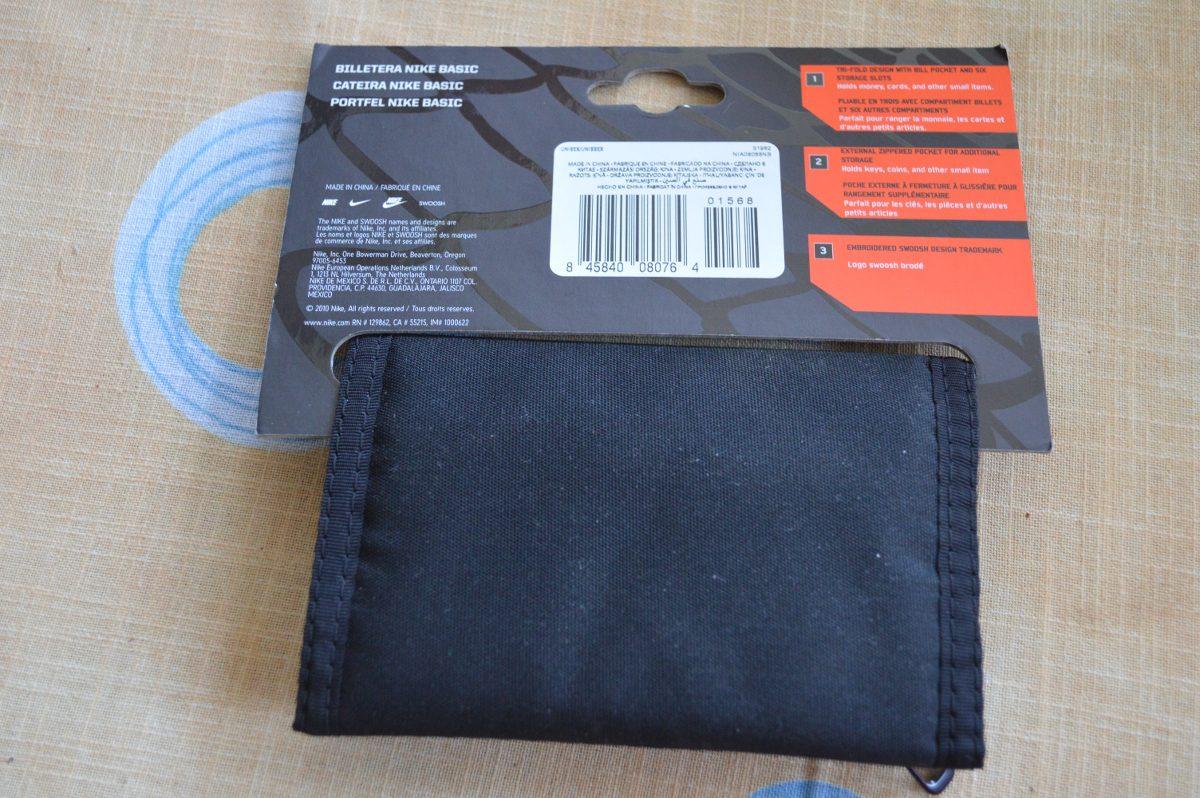 4045d1e8a Carteira Nike Bank Nylon Wallet Preta Nova - R$ 40,00 em Mercado Livre