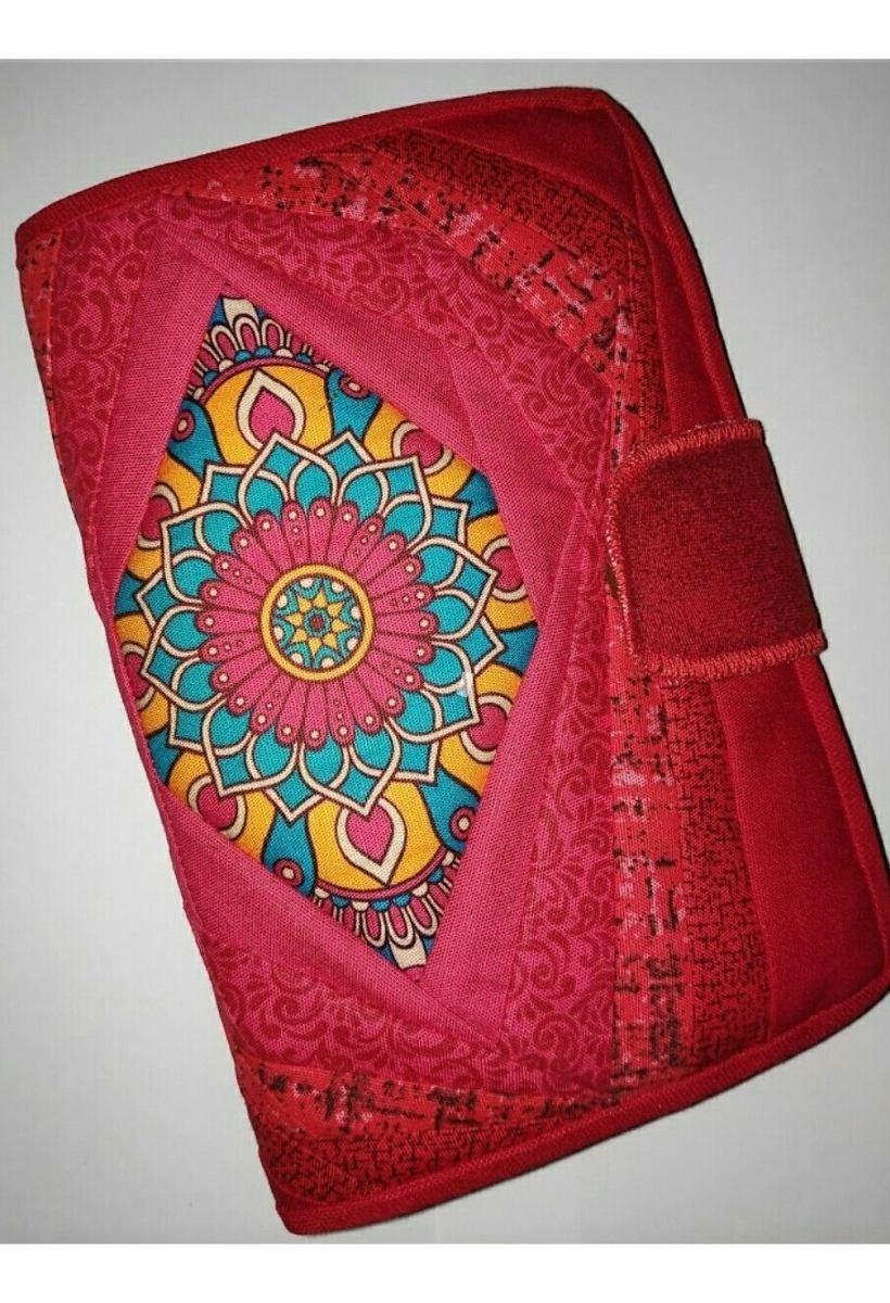 3e854a686 Carteira Patchwork Mandala Vermelha/laranja - R$ 65,00 em Mercado Livre