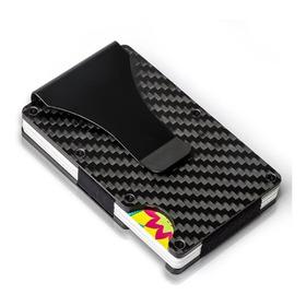 Carteira Porta Cartões Minimalista Rfid - Fibra De Carbono