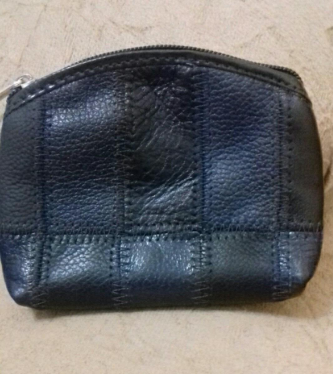 208535e867 carteira porta níquel de retalhos de couro legítimo. Carregando zoom.