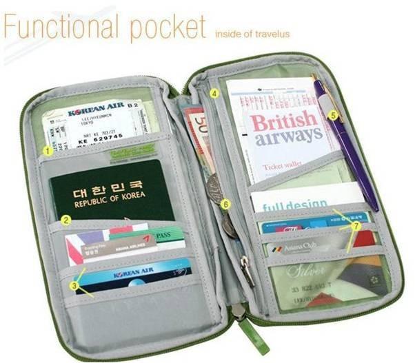 Carteira Porta Passaporte E Documentos Rosa R 24 99