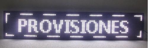 cartel 1536 led super brillante programable blanco de 130cm