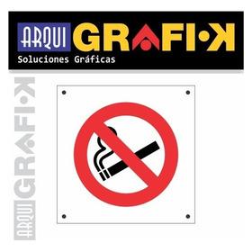 Cartel 20x20 - Prohibido Fumar