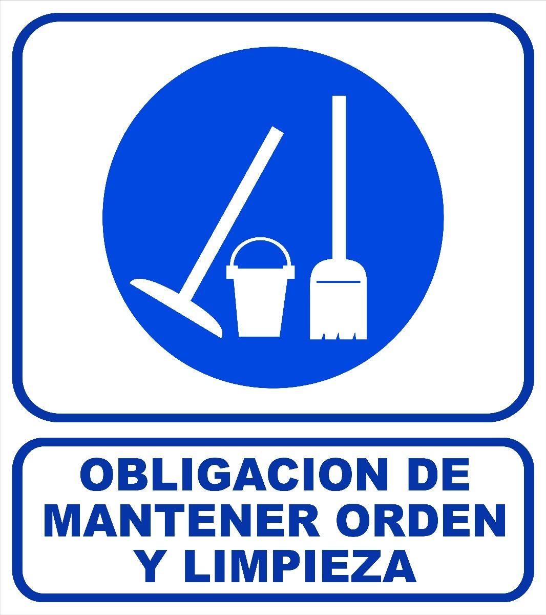 cartel 40x45 cm obligación de mantener orden y limpieza 79 02 en