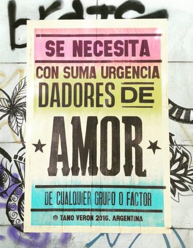 cartel afiche cumbia callejero poster tano veron love grande