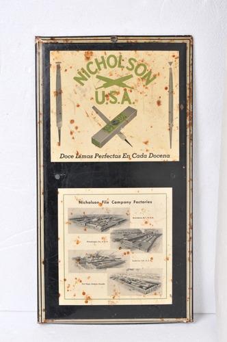 cartel antiguo nicholson usa