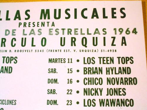cartel baile carnaval peñaflor leo dan wawanco 1964 urquiza