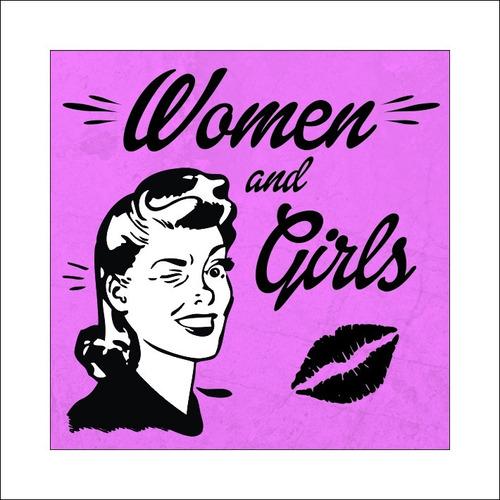 cartel baños vintage women gentlemen hombre mujer pvc 20x20