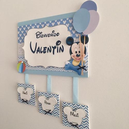 cartel bebe p/puerta,sanatorio,clinica,nacimiento,babyshower