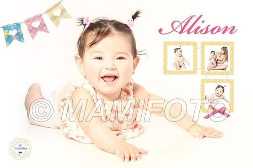 cartel bienvenida cumple infantil personalizado foto bebe