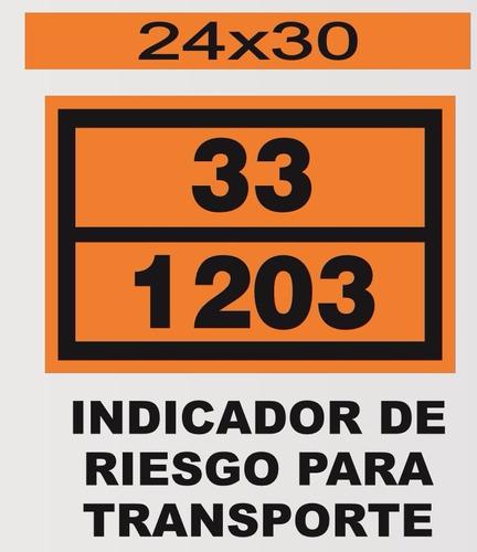 cartel calco reflectivos para transporte camiones 25x25